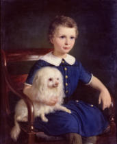 Vilhelm Nicolai Marstrand - Study of a Boy with Pet Dog, 1860