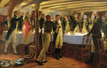 Thomas Davidson - Before Copenhagen: The Ward Room of HMS Elephant, 1st April 1801, 1898