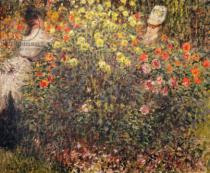 Claude Monet - Women in the Flowers, 1875