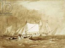 Joseph Mallord William Turner - Shipping Scene, with Fishermen, c.1815-20