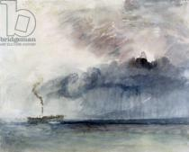 Joseph Mallord William Turner - Steamboat in a Storm, c.1841