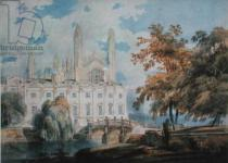 Joseph Mallord William Turner - Clare Hall and the West End of King's College Chapel, Cambridge, from the banks of the River Cam, 1793