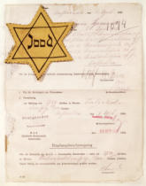 Anonymous - Identity card and yellow star for a Jew living in Amsterdam in 1943