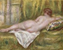Pierre Auguste Renoir - Reclining Nude from the Back, Rest after the Bath, c.1909