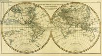 Charles Marie Rigobert Bonne - Map of the World in two Hemispheres, from 'Atlas de Toutes les Parties Connues du Globe Terrestre' by Guillaume Raynal (1713-96)