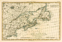 Charles Marie Rigobert Bonne - Eastern Canada, Newfoundland, Nova Scotia and St John Island, from 'Atlas de Toutes les Parties Connues du Globe Terrestre' by G