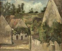 Paul Cézanne - Crossroads at the Rue Remy, Auvers, c.1872