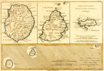 Charles Marie Rigobert Bonne - The Islands of Rodriguez, Isle de France and Bourbon, from 'Atlas de Toutes les Parties Connues du Globe Terrestre' by Guillaume