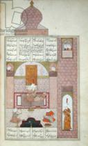 Persian School - Ms D-212 fol.221b Bahram (420-28) Visits the Princess of Rum, illustration to 'The Seven Princesses', 1199, by Elias Nezami (114