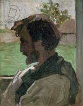 Jean Frederic Bazille - Self Portrait at Saint-Saveur, 1868