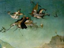 Hieronymus Bosch - Temptation of St.Anthony, detail of left hand panel,