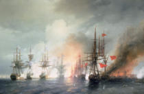 Iwan Konstantinowitsch Aiwasowski - Russian-Turkish Sea Battle of Sinop on 18th November 1853, 1853