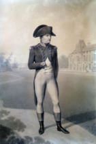 Jean-Baptiste Isabey - Napoleon Bonaparte (1769-1821) First Consul at Malmaison, from 'Livre du Sacre', 1804