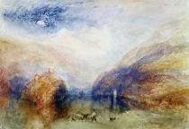 Joseph Mallord William Turner - The Lauerzersee with the Mythens, c.1848