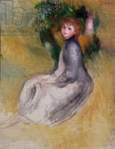 Pierre Auguste Renoir - Young Girl Seated, 1885