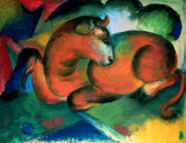Franz Marc - Roter Stier, 1912