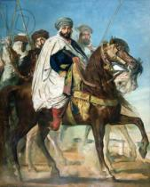Theodore Chasseriau - Ali Ben Ahmed, the Last Caliph of Constantine, with his Entourage outside Constantine, 1845