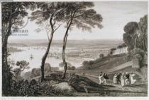 Joseph Mallord William Turner - Plymouth Dock from Mount Edgecombe, from 'Cooke's Picturesque Views of the Southern Coast of England' engraved by William Bernar
