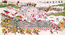 Chinesische Malerei - Recapture of Bac Ninh by the Chinese during the Franco-Chinese War of 1885, 1885-89