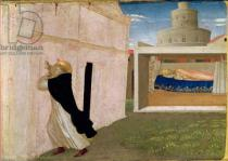Fra Angelico - The Dream of Innocent III, from the predella panel of the Coronation of the Virgin, c.1430-32