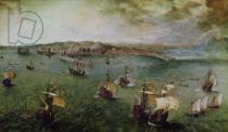 Pieter Brueghel der Ältere - View of the Port of Naples, c.1550-69