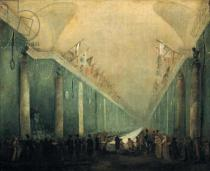 Hubert Robert - Banquet Given for Napoleon Bonaparte (1769-1821) in the Grande Galerie of the Louvre, 20th December 1797