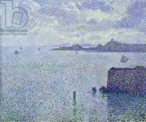 Theodore van Rysselberghe - Sailing Boats in an Estuary, c.1892-93