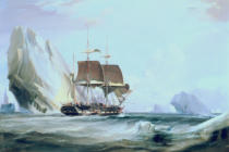 George Chambers - The Barque 'Auriga' in Antarctic Waters, 1838