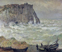 Claude Monet - Rough Sea at Etretat, 1883