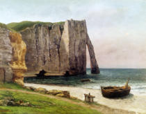 Gustave Courbet - The Cliffs at Etretat, 1869