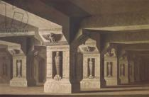 Karl Friedrich Schinkel - Set design for Act II Scene xx of 'The Magic Flute' by Wolfgang Amadeus Mozart (1756-91)