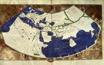 nach Ptolemy - Map of the known world, from 'Geographia'