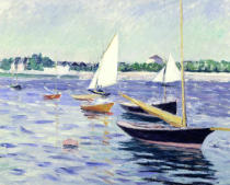 Gustave Caillebotte - Sailing Boats at Argenteuil, 1891