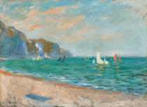 Claude Monet - Boats below the Cliffs at Pourville, 1882