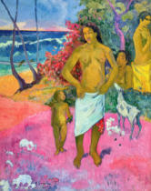 Paul Gauguin - A Walk by the Sea, or Tahitian Family, 1902