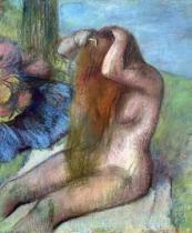 Edgar Degas - Woman doing her Hair, c.1895