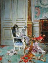 Giovanni Boldini - Girl Reading in a Salon, 1876