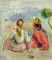 Pierre Auguste Renoir - Young Girls on the Beach, c.1898