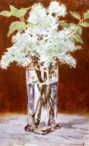 Edouard Manet - White Lilac in a Crystal Vase, 1882
