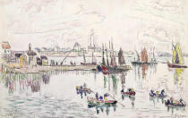 Paul Signac - The Port of Lomalo, Brittany, 1922