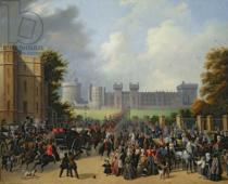 Edouard Pingret - The Arrival of Louis-Philippe (1773-1850) at Windsor Castle, 8th October 1844, 1845