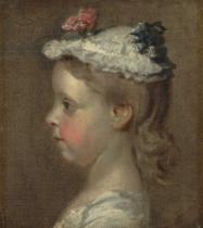 William Hogarth - Study of a Girl's Head, c.1740-50