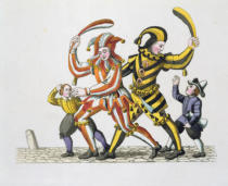 German School - Two Jesters Playing with Children, from 'Old Nuremberg's Customs and Practices in Games and Songs', re-published 1831