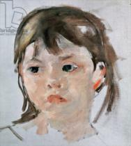 Mary Stevenson Cassatt - Head of a Young Girl
