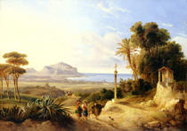 Consalvo Carelli - View of Palermo, 1840