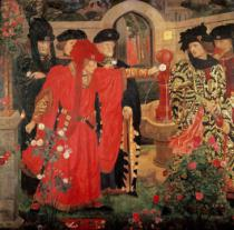 Henry A. Payne - Choosing the Red and White Roses in the Temple Garden, 1910