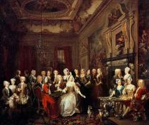William Hogarth - The Assembly at Wanstead House