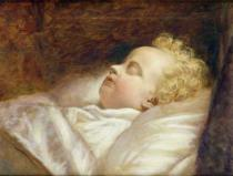 George Elgar Hicks - Young Frederick Asleep at Last c.1855