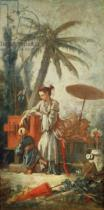 Fran�ois Boucher - Chinese Curiosity, study for a tapestry cartoon, c.1742