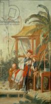 Fran�ois Boucher - A Chinese Garden, study for a tapestry cartoon, c.1742